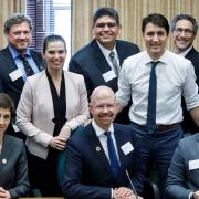 Brockhouse with Justin Trudeau and Kirsty Duncan